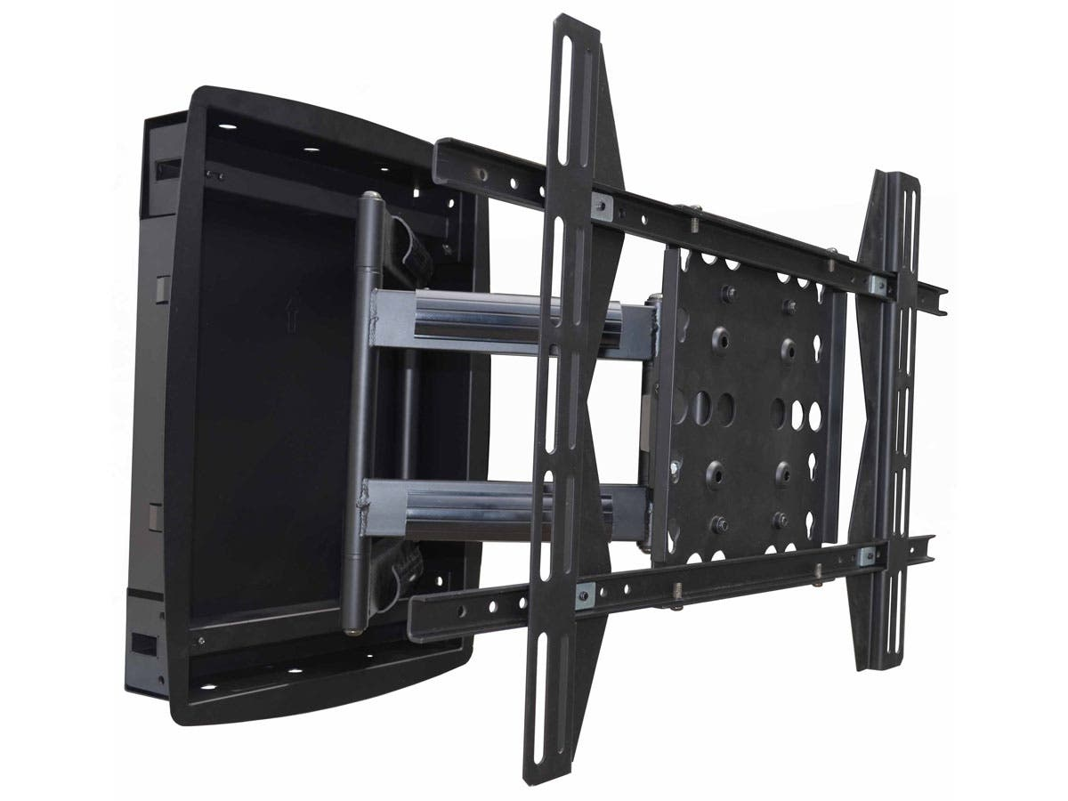 Monoprice Recessed Full-Motion Articulating TV Wall Mount Bracket - For TVs 42in to 63in, Max Weight 200lbs, Extension Range of 3.94in to 25.0in, VESA Patterns Up to 800x500-Large-Image-1
