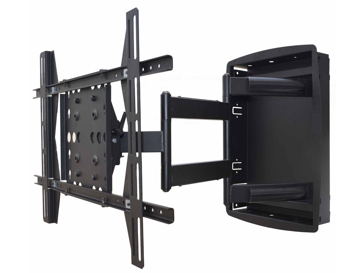 Monoprice Recessed Full Motion Articulating Tv Wall Mount Bracket For Tvs 42in To 63in