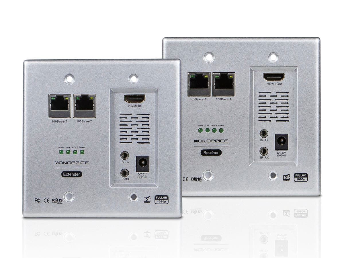 Monoprice HDBaseT Wall Plate Extender Kit-Large-Image-1