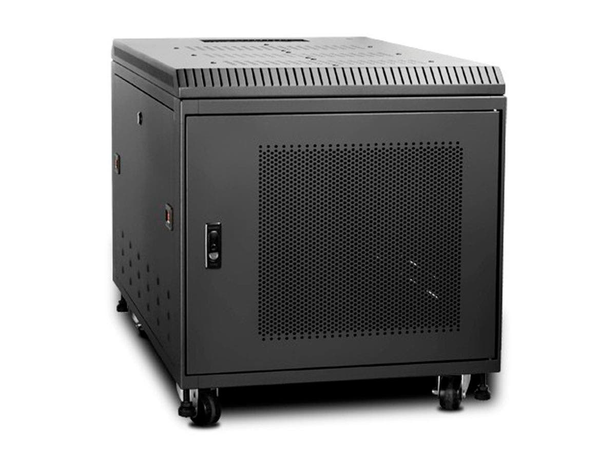 Monoprice 9U 900mm Depth Rack-mount Server Cabinet - Black-Large-Image-1