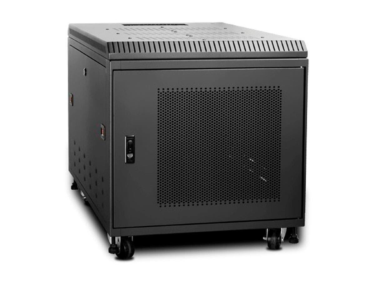Monoprice 9U 900mm Depth Rack-mount Server Cabinet - Black - GSA Approved-Large-Image-1