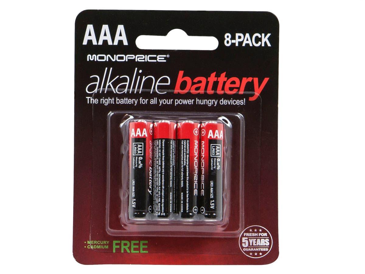 Monoprice AAA Alkaline Battery, 8-Pack - Monoprice.com