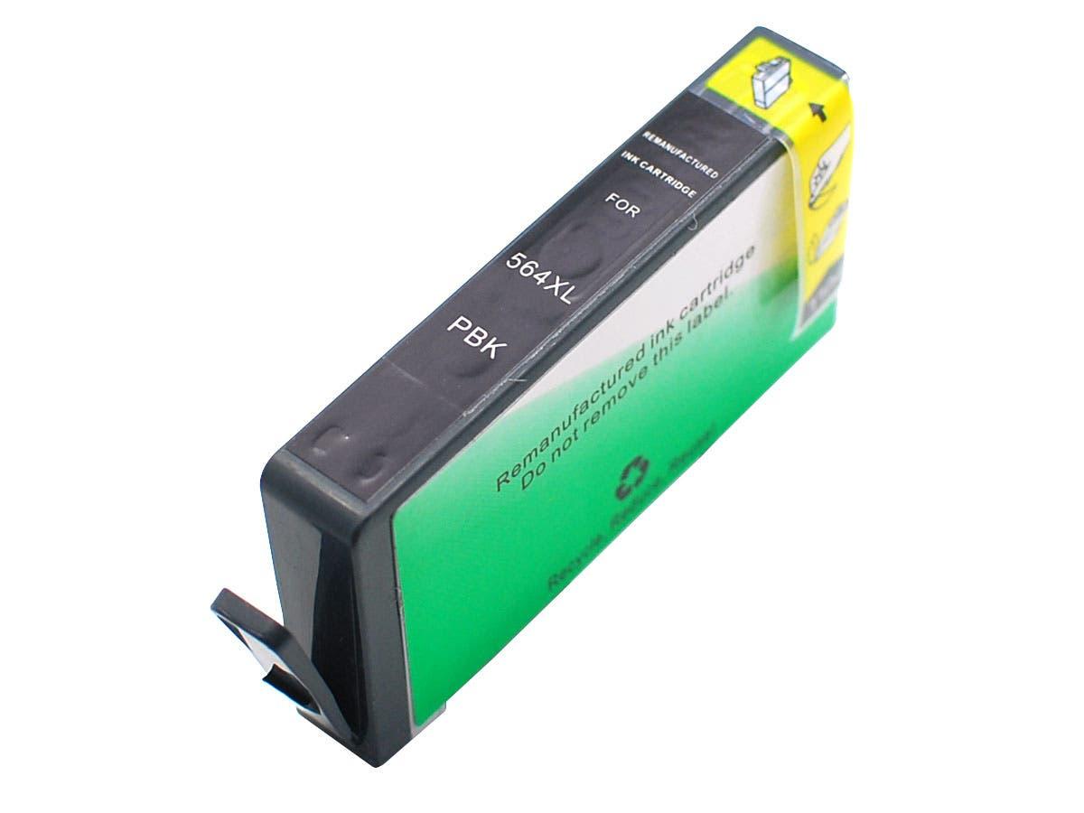 MPI Compatible HP 564XLPBK (CB322WN) Inkjet-Photo Black-Large-Image-1