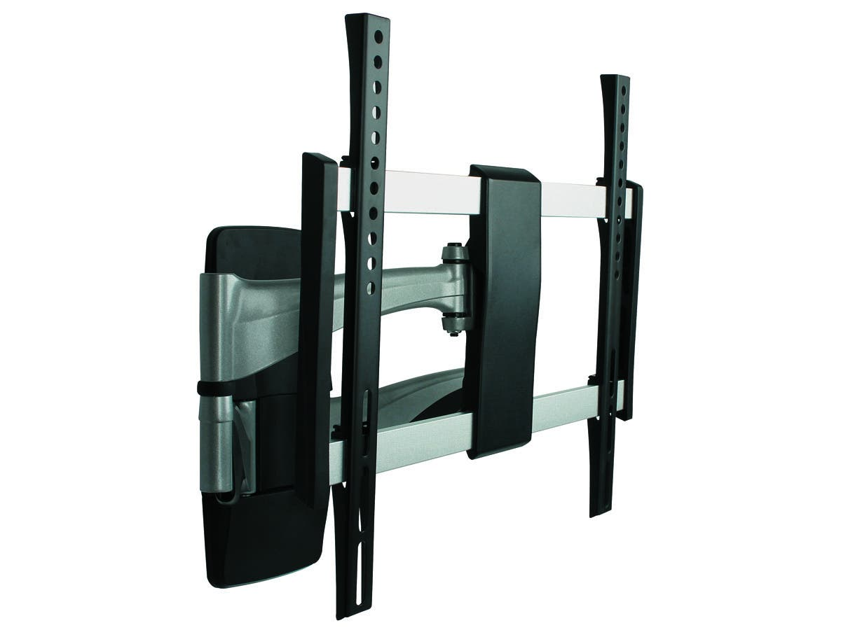 monoprice full motion articulating tv wall mount bracket for tvs 32in to 55in max weight 99lbs. Black Bedroom Furniture Sets. Home Design Ideas