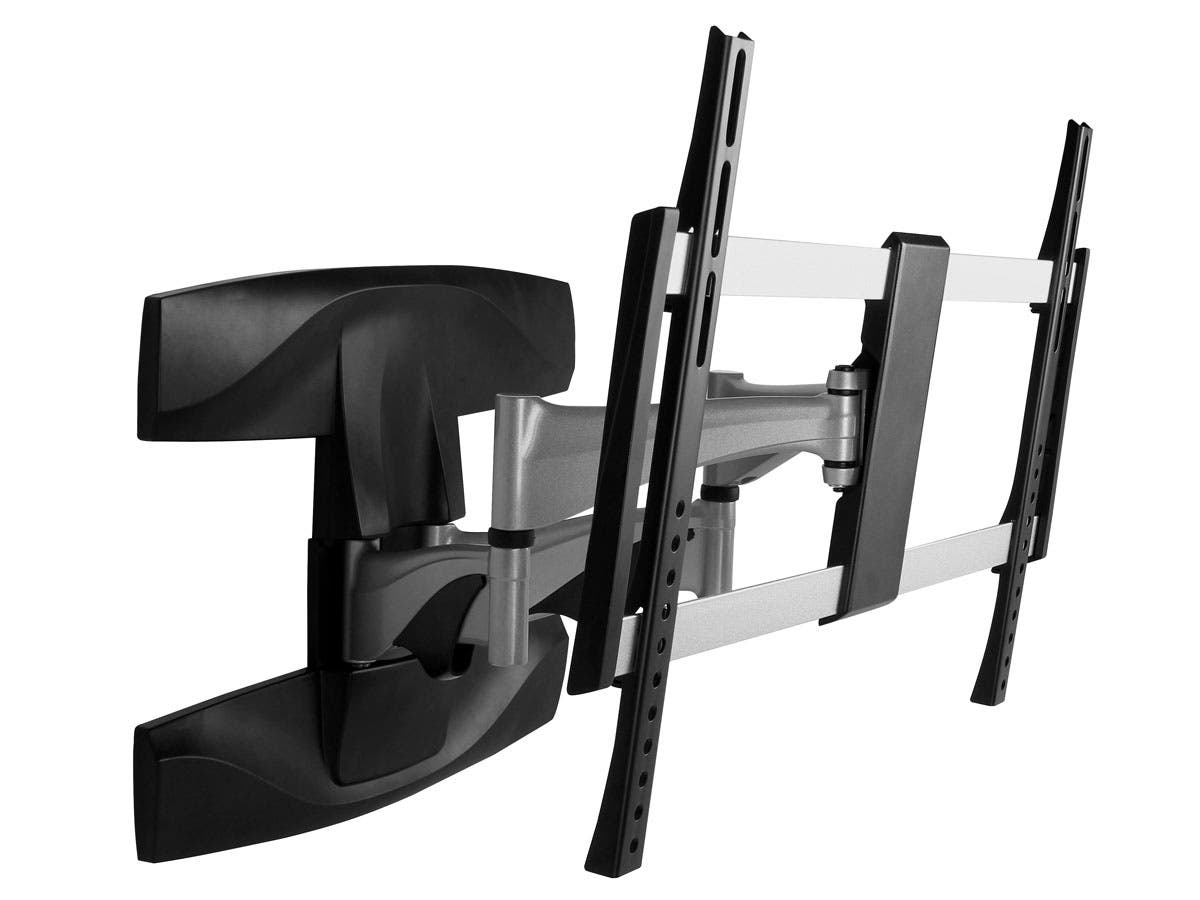 monoprice full motion articulating tv wall mount bracket for tvs 37in to 70in max weight. Black Bedroom Furniture Sets. Home Design Ideas