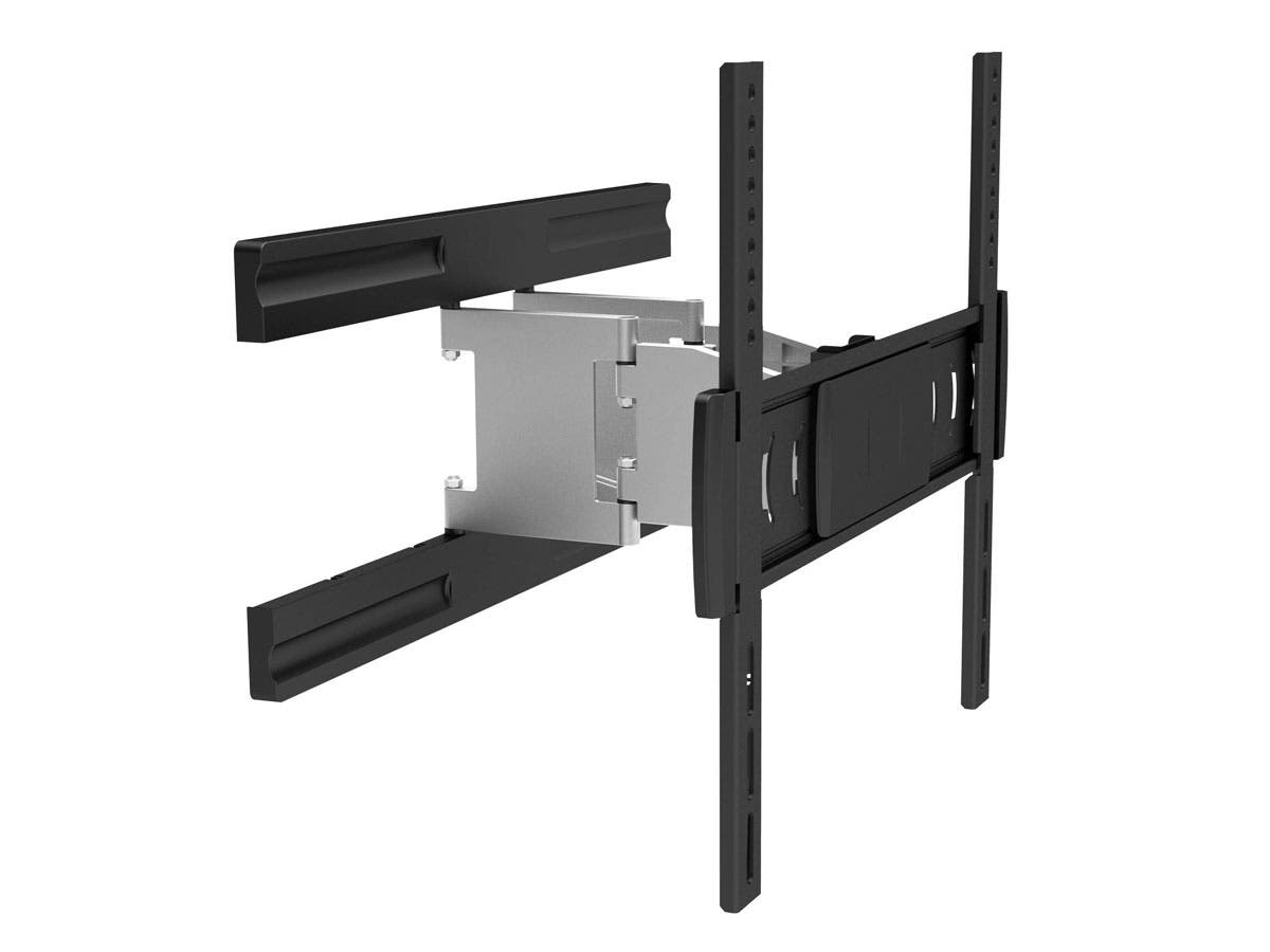 Monoprice Full-Motion Articulating TV Wall Mount Bracket For TVs 32in to 55in, Max Weight 66 lbs, Extends from 1.3in to 10.6in, VESA Up to 410x400, Rotating , Concrete & Brick, UL Certified-Large-Image-1