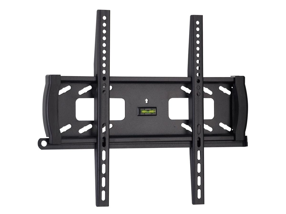 monoprice fixed tv wall mount bracket for tvs 32in to 55in max weight 99lbs vesa patterns up. Black Bedroom Furniture Sets. Home Design Ideas