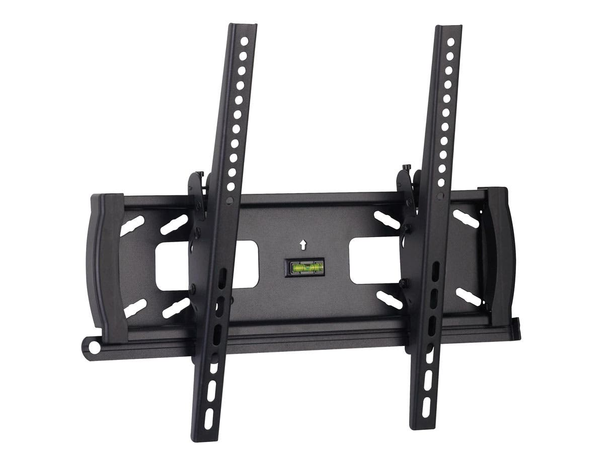 Monoprice Tilt TV Wall Mount Bracket For TVs 32in to 55in, Max Weight 99lbs, VESA Patterns Up to 400x400, Security Brackets, UL Certified-Large-Image-1