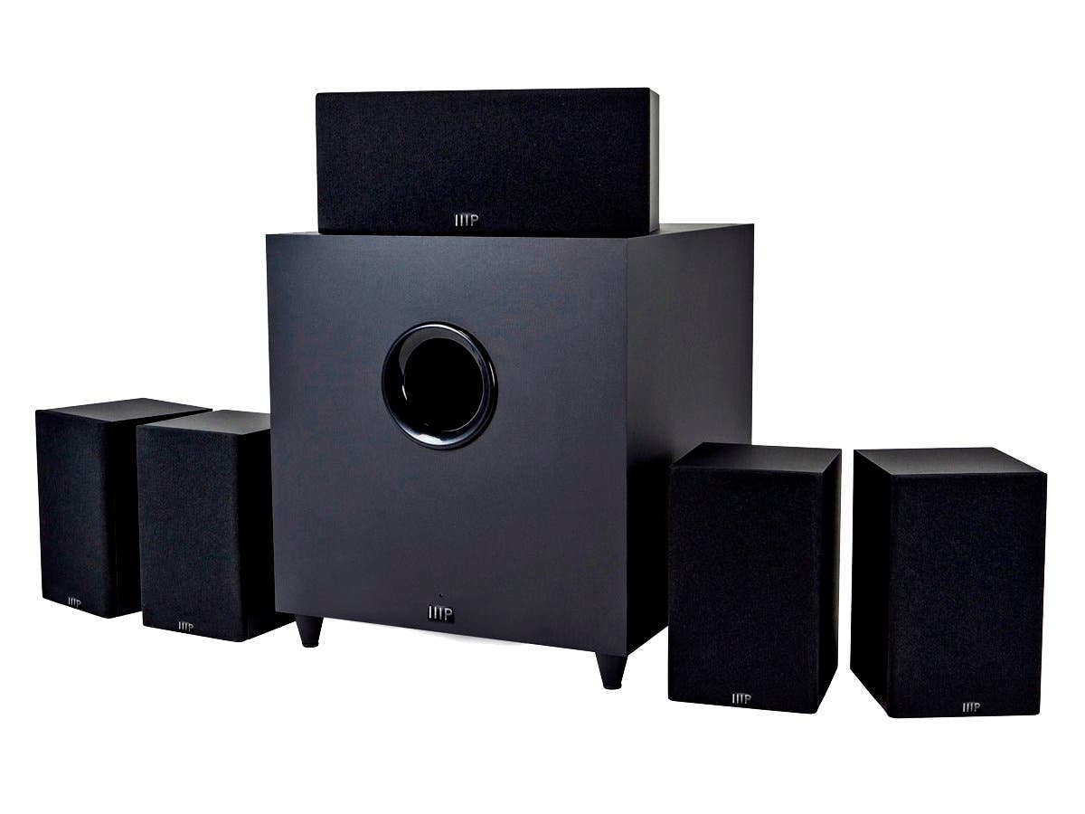 monoprice premium 5 1 ch home theater system with subwoofer. Black Bedroom Furniture Sets. Home Design Ideas