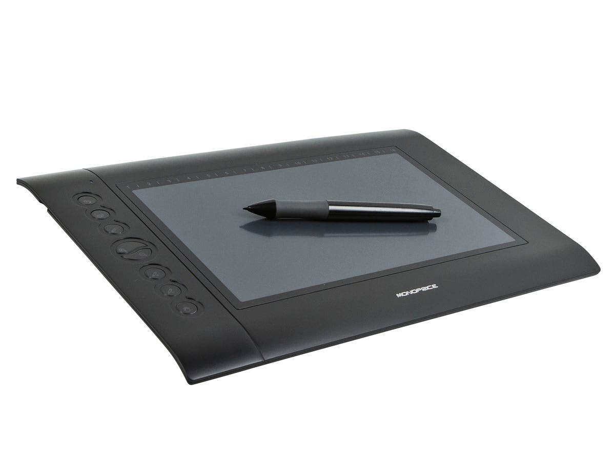 Monoprice 10 x 6 25-inch Graphic Drawing Tablet (4000 LPI