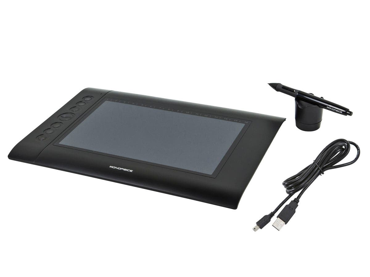 monoprice 10 x 6 25 inch graphic drawing tablet 4000 lpi 200 rps