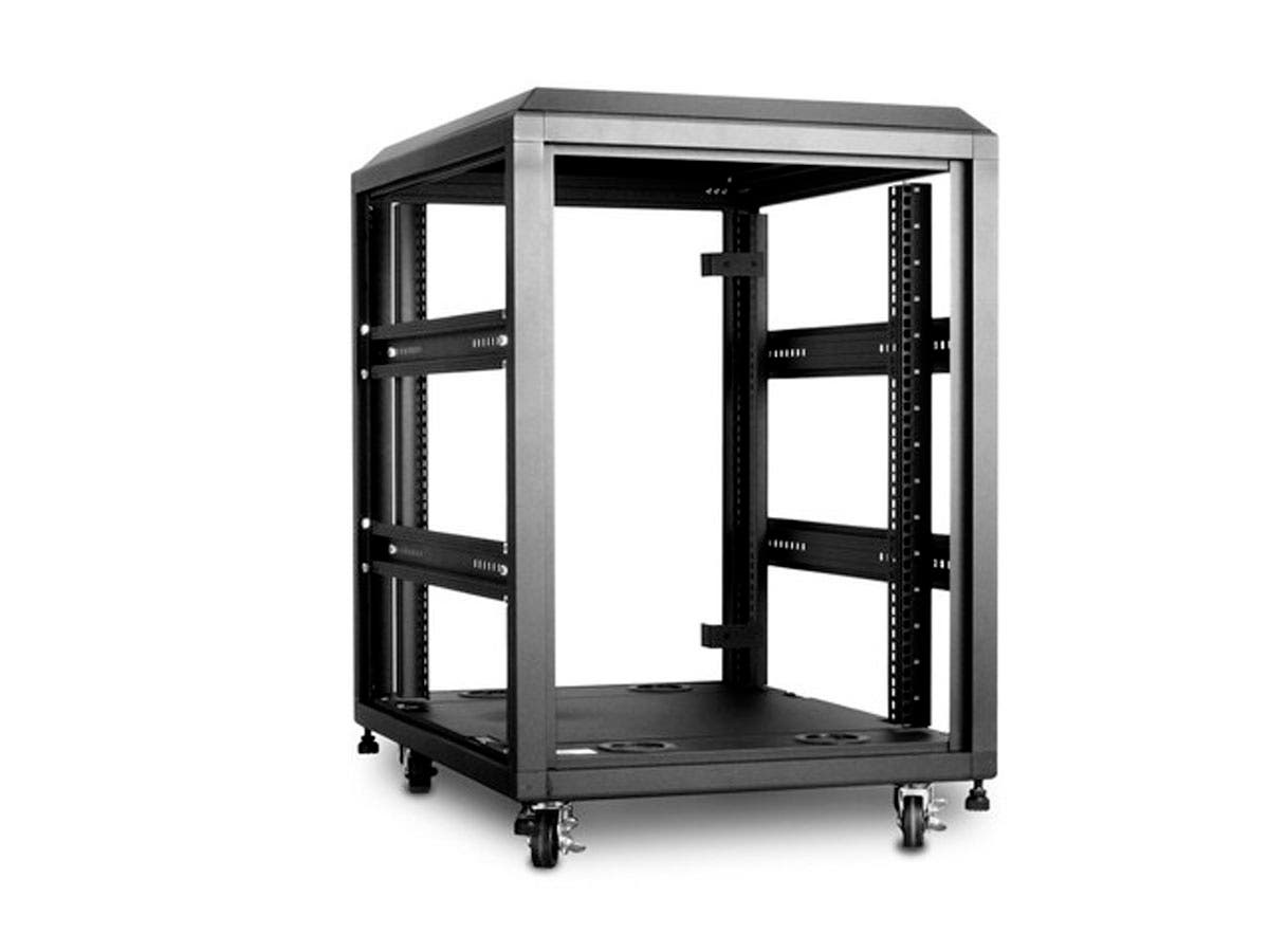 Monoprice 15U 4-Post Open Frame Rack - GSA Approved - Monoprice.com