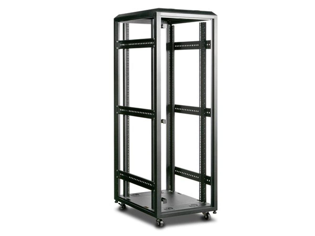 Monoprice 36U 4-Post Open Frame Rack - GSA Approved-Large-Image-1