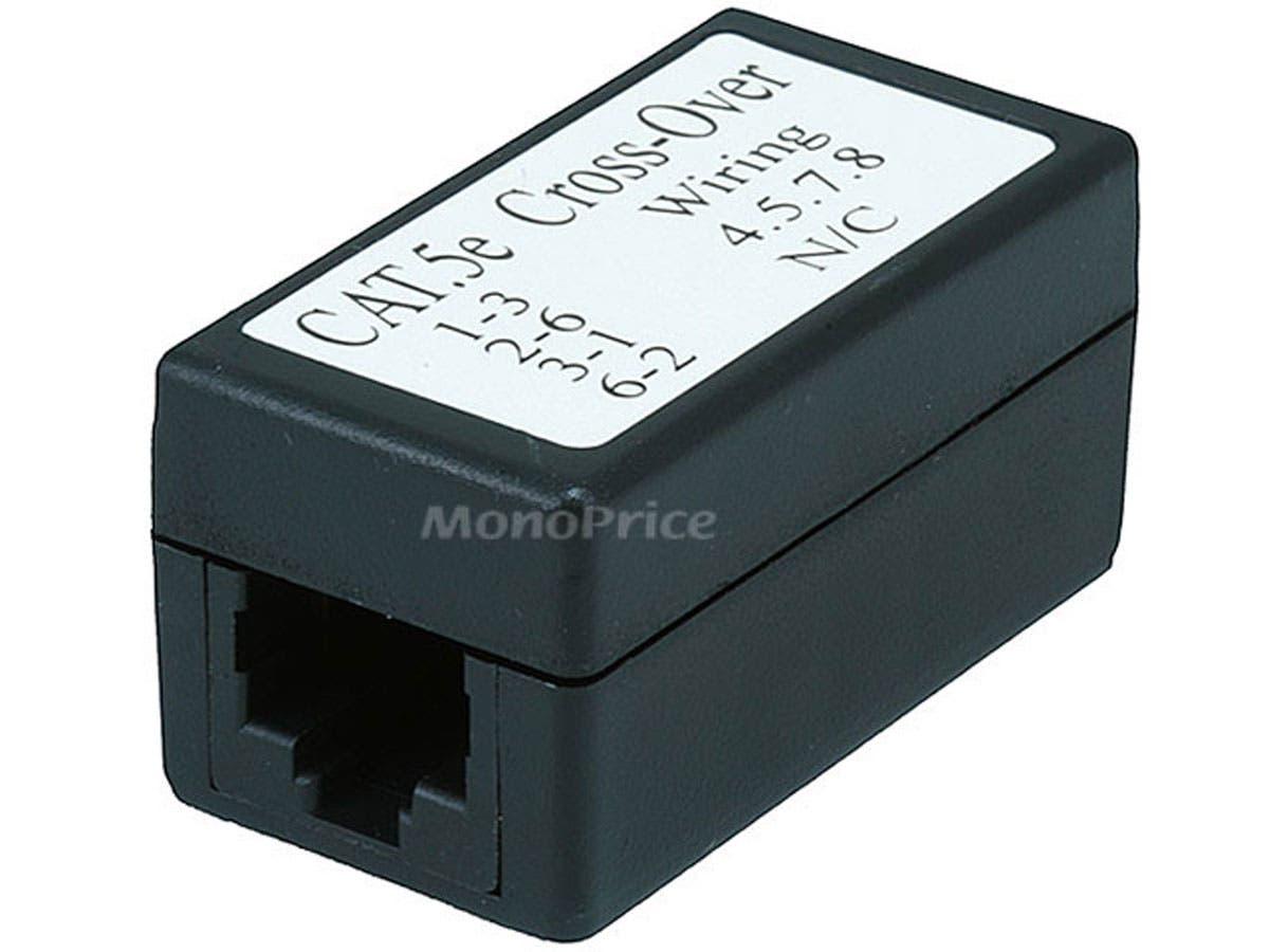 Cat5e Crossover Inline Coupler - Black