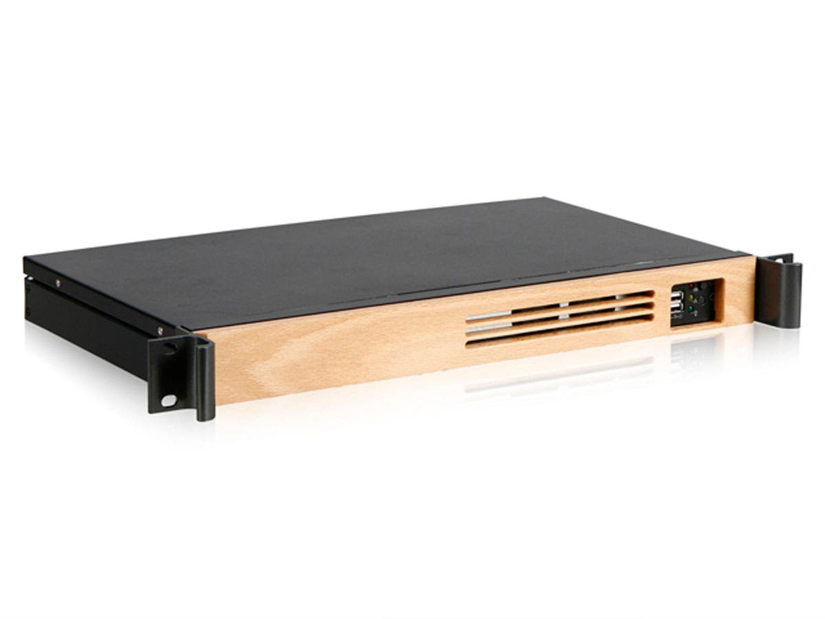 MP KIT Compact Rackmount Case with Wood Front Bezel
