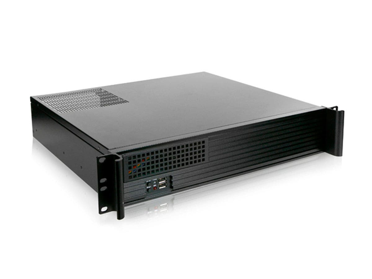 2U Compact Rackmount MicroATX/PS2 Case, 2x 3.5-inch and 1x 5.25-inch