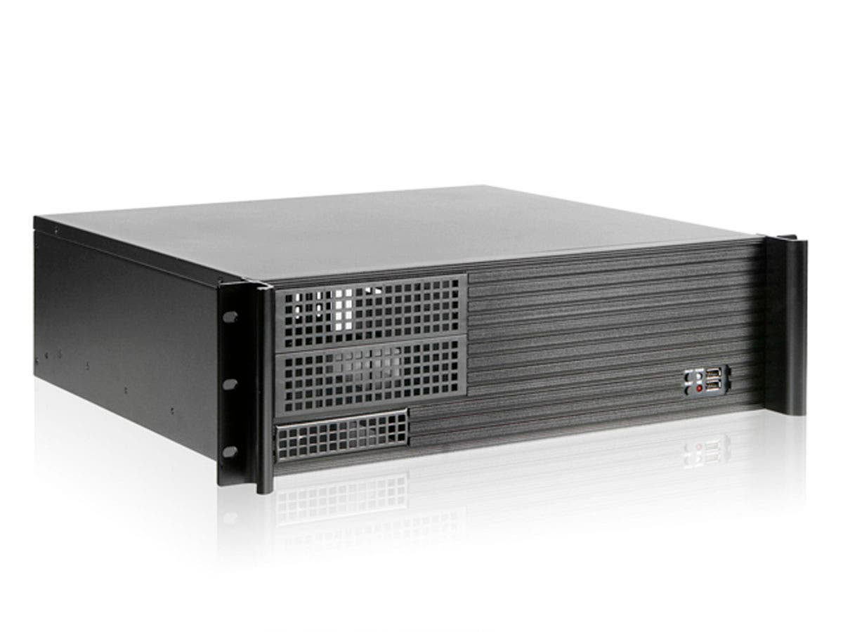 Monoprice 3U Compact Rackmount MicroATX/PS2 Case, 2x 5.25-inch-Large-Image-1