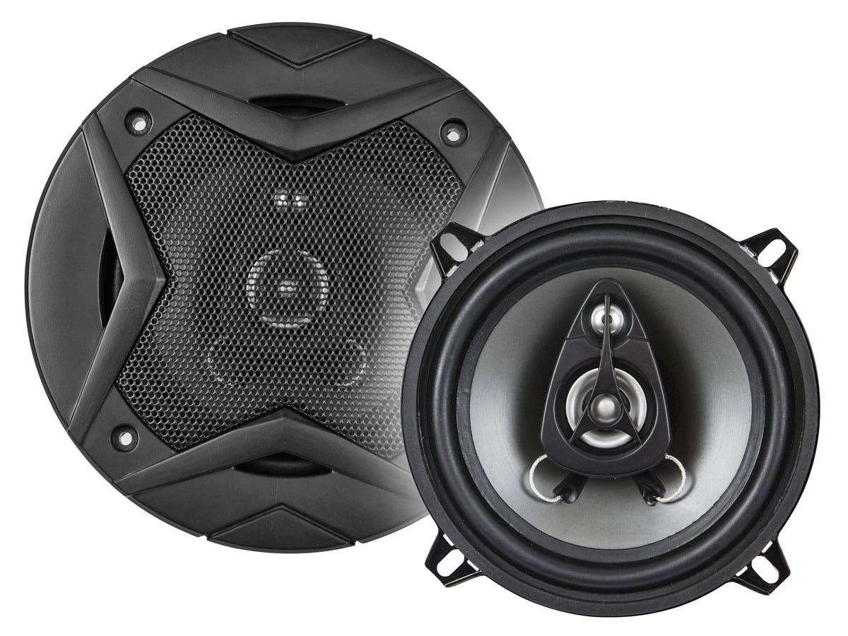 Monoprice 5-1/4 Inch 3-Way Car Speaker (Pair) - 60W-Large-Image-1