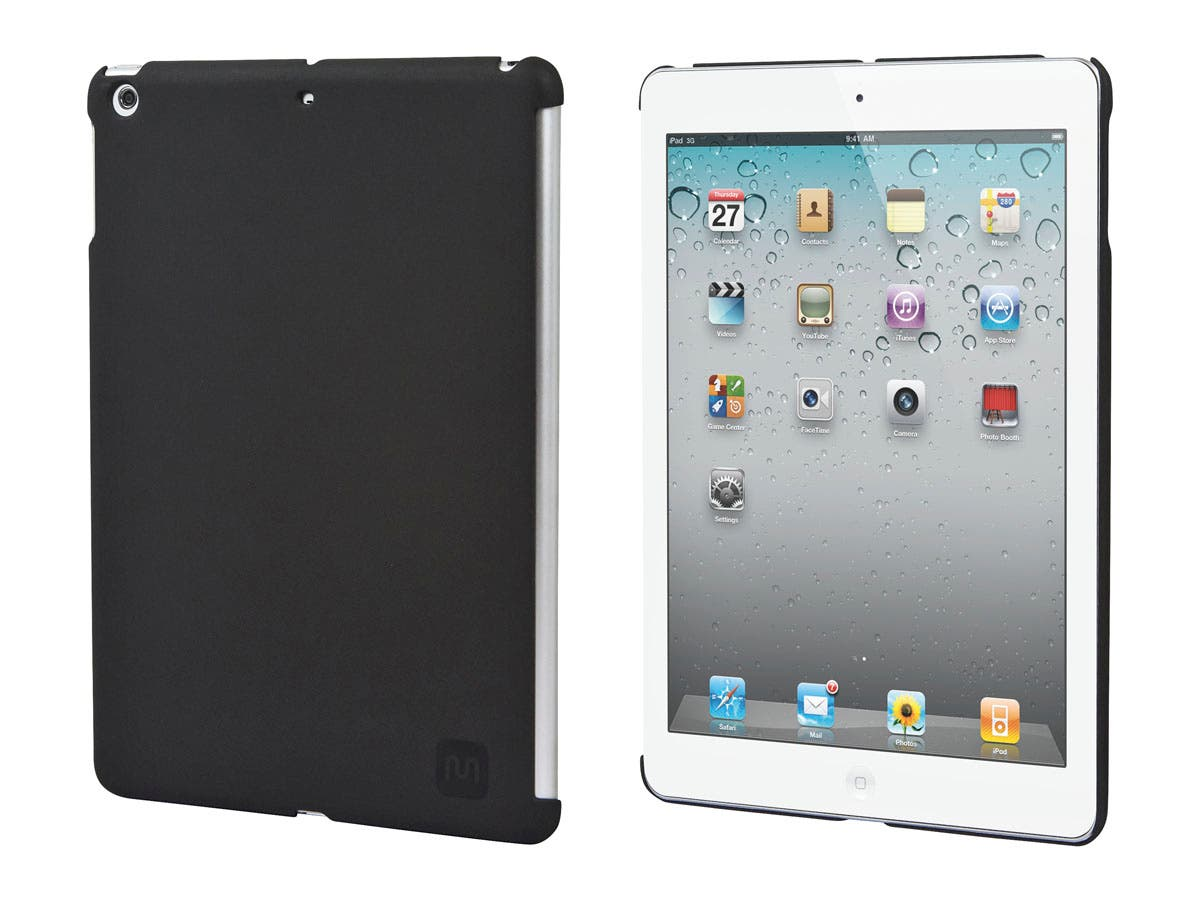 PC Soft Touch Cover for iPad Air, Black-Large-Image-1