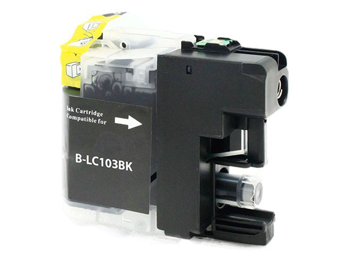 MPI Compatible Brother LC103BK Inkjet (New Chip Updated Sept 2015) - Black