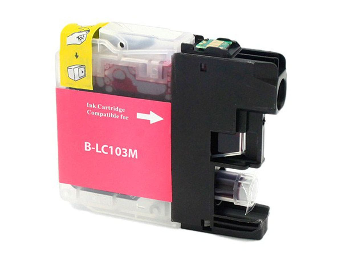 Monoprice Compatible Brother LC103M Inkjet (New Chip Updated Sept 2015) - Magenta-Large-Image-1