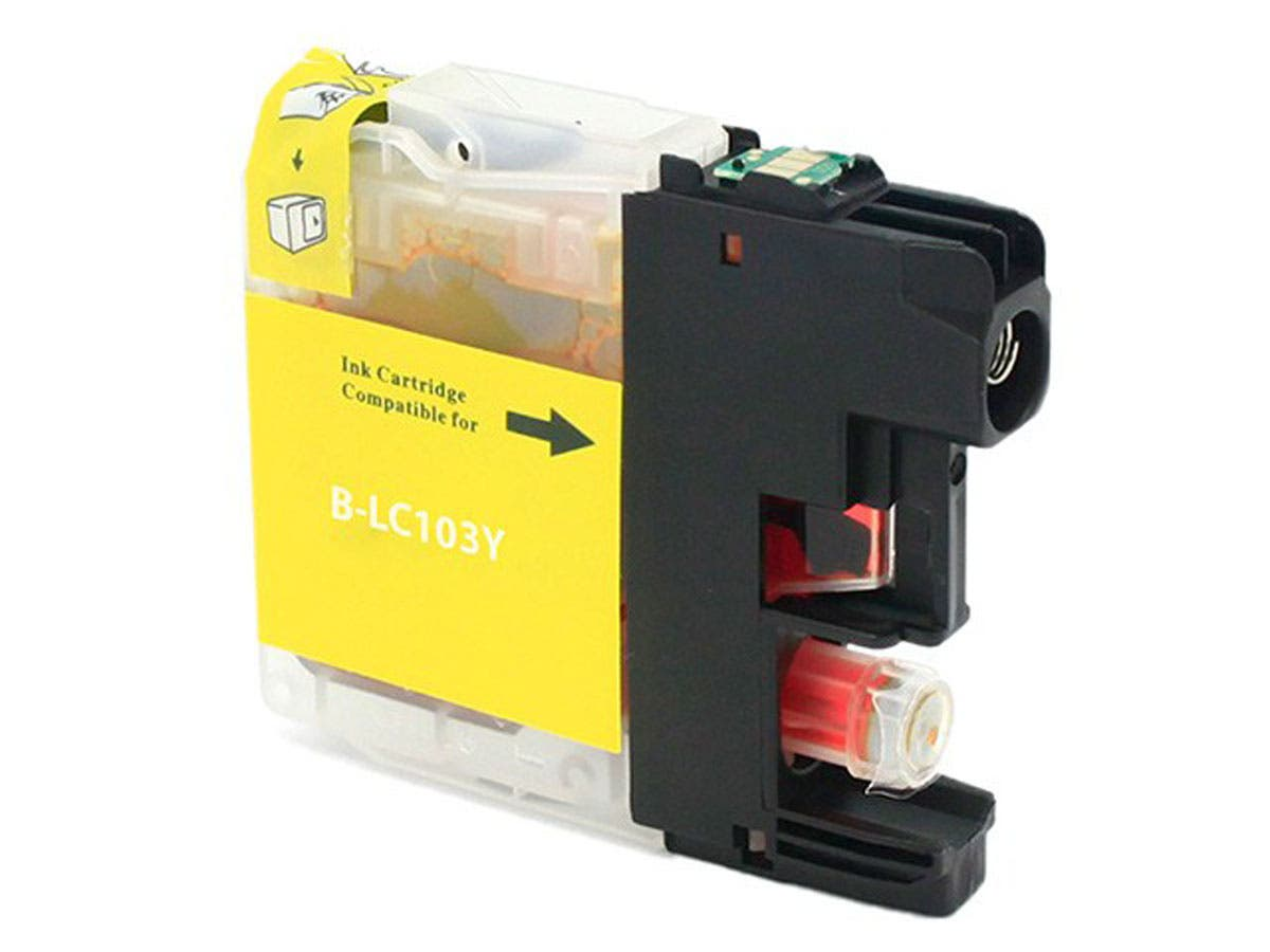 Monoprice Compatible Brother LC103Y Inkjet (New Chip Updated Sept 2015) - Yellow-Large-Image-1