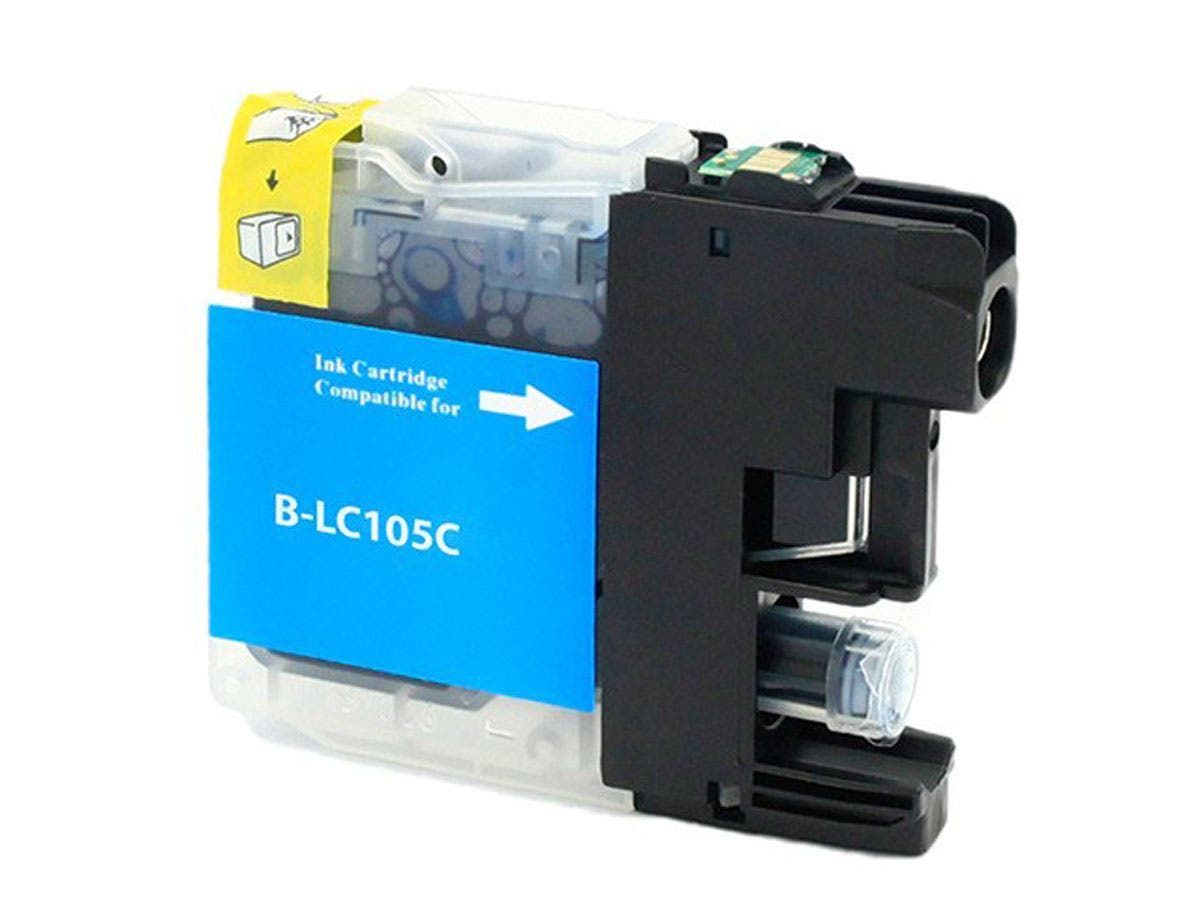 Monoprice Compatible Brother LC105C Inkjet- Cyan (High Yield)-Large-Image-1