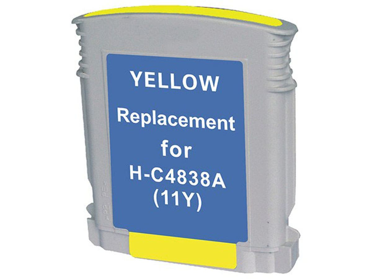 Monoprice Compatible HP 11Y(C4838AN) Inkjet- Yellow-Large-Image-1
