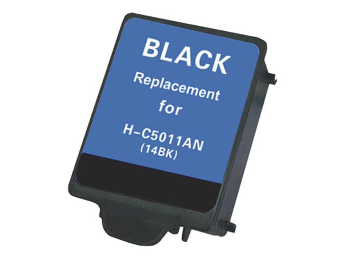 Monoprice Compatible HP 14BK(C5011A) Inkjet- Black-Large-Image-1