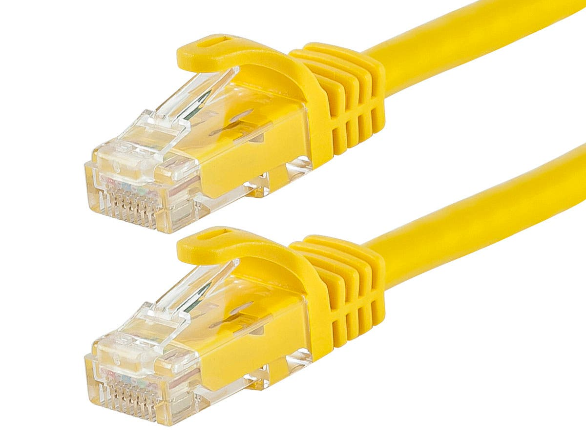 FLEXboot Series Cat5e 24AWG UTP Ethernet Network Patch Cable, 2ft Yellow