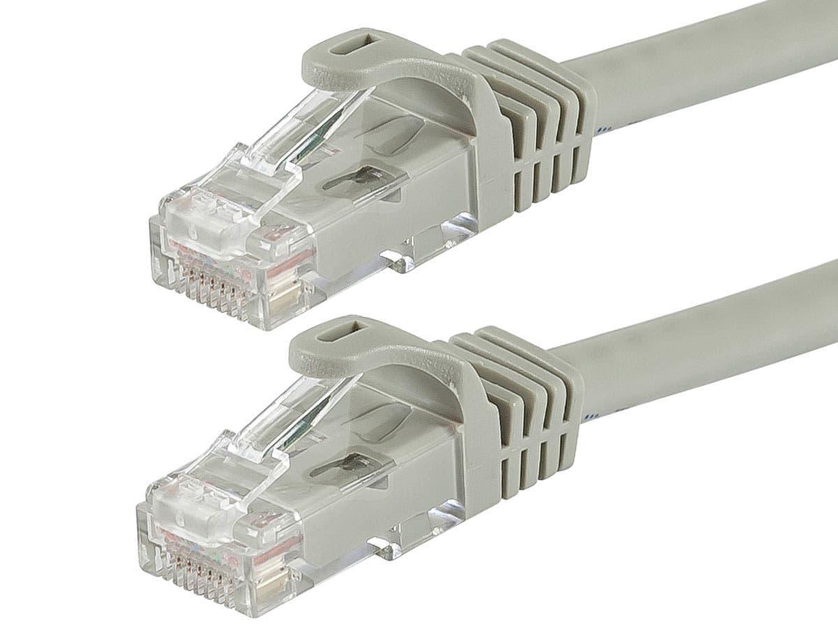 Monoprice 75FT 350MHz UTP Cat5e RJ45 Network Cable Gray