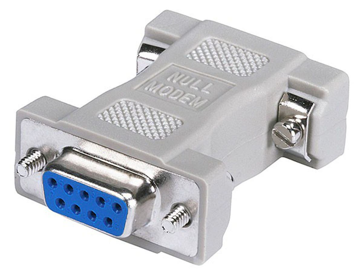 DB9, F/F, Null Modem Adapter