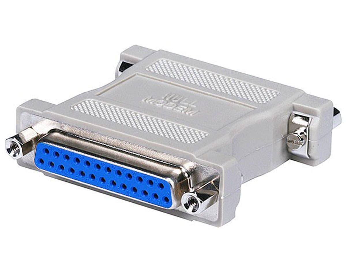 DB25, F/F, Null Modem Adapter