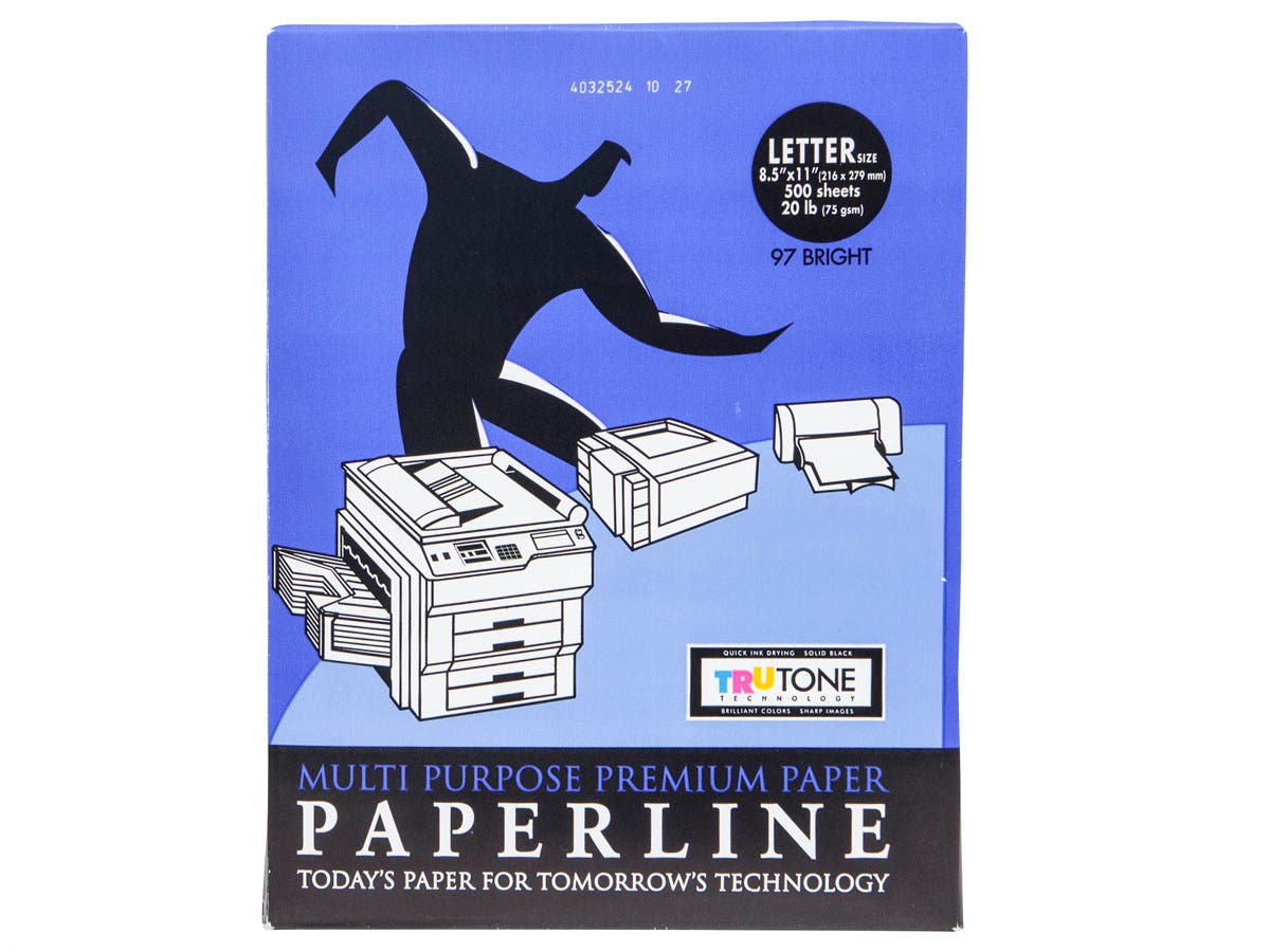 MPI 8.5x11in Premium White Copy Paper, 96 Brightness, 20-lb Ream of 500 Sheets