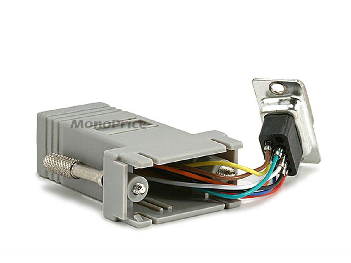 Monoprice Db9m Rj 45modular Adapter To Serial Db9 Pinout Wiring Diagram As Well Balun Rj45 Small Image 2
