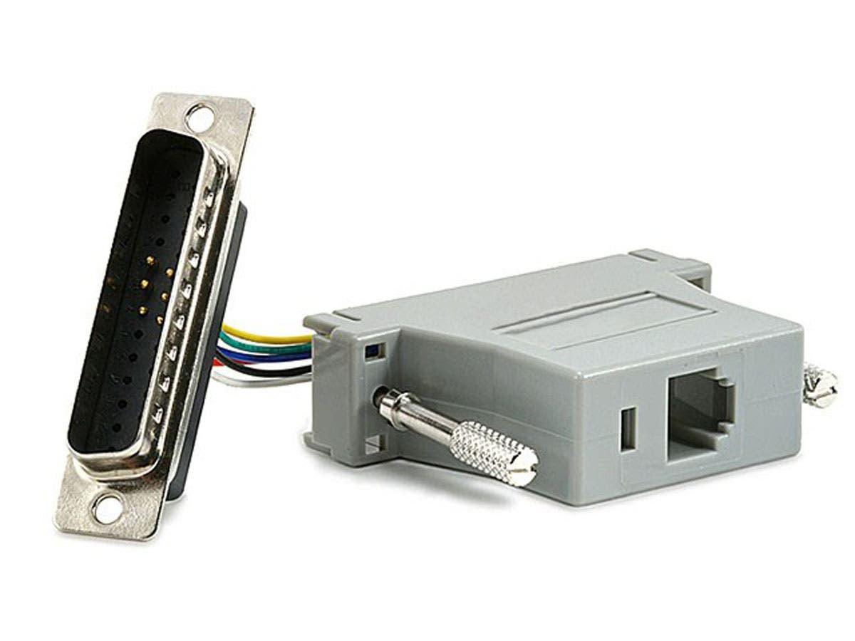 Monoprice DB25M/RJ-12,Modular Adapter-Large-Image-1