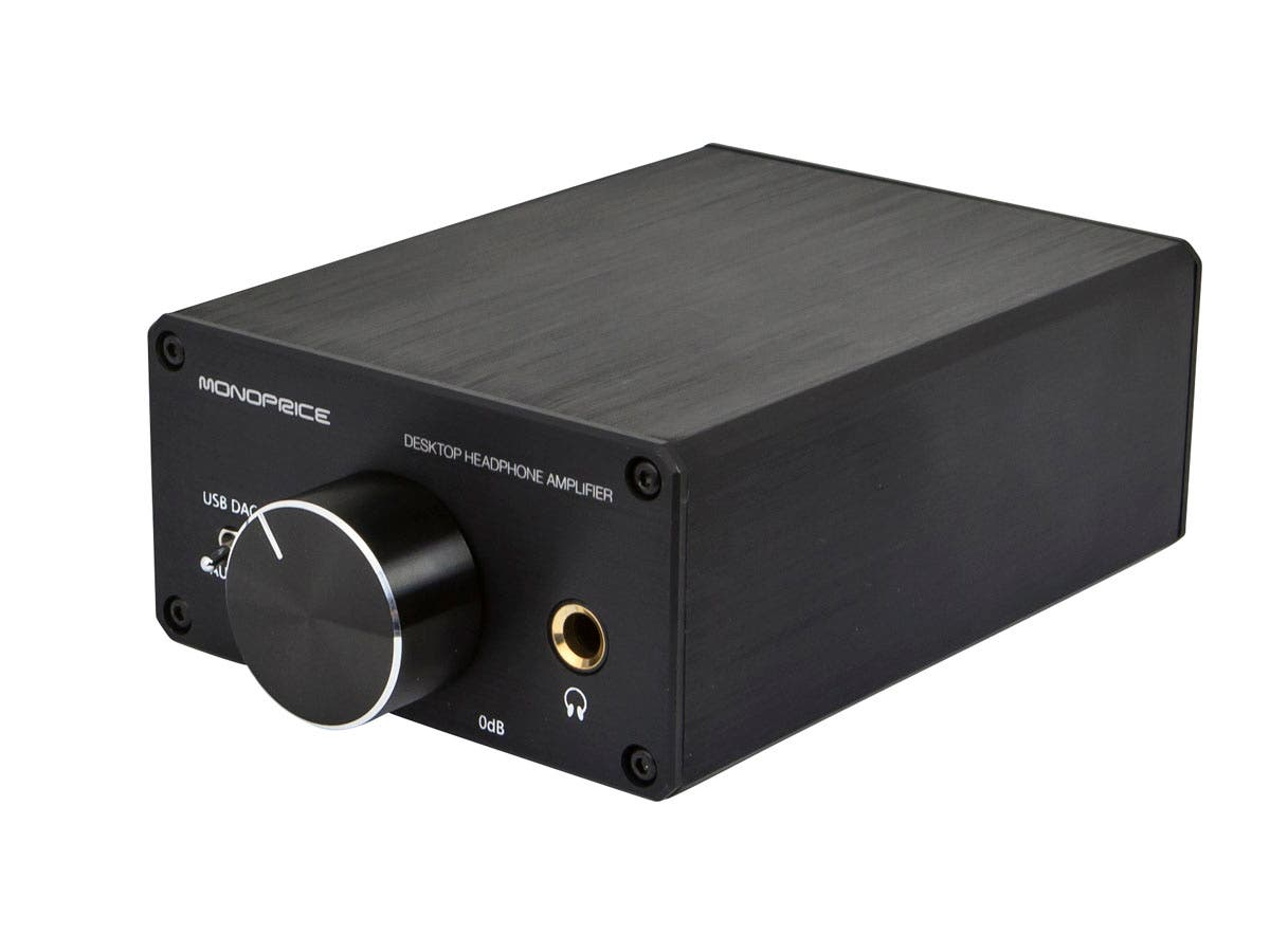Monoprice Desktop Headphone Amplifier Dual 4 Ohm Sub Wiring To A Mono Further 2 Subwoofer Large Image 1