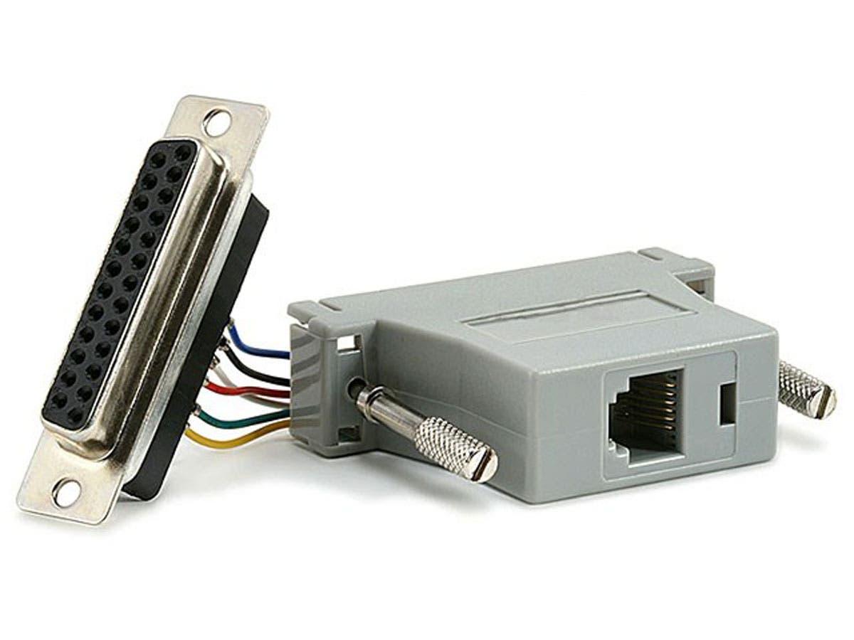Monoprice DB25F/RJ-12,Modular Adapter-Large-Image-1
