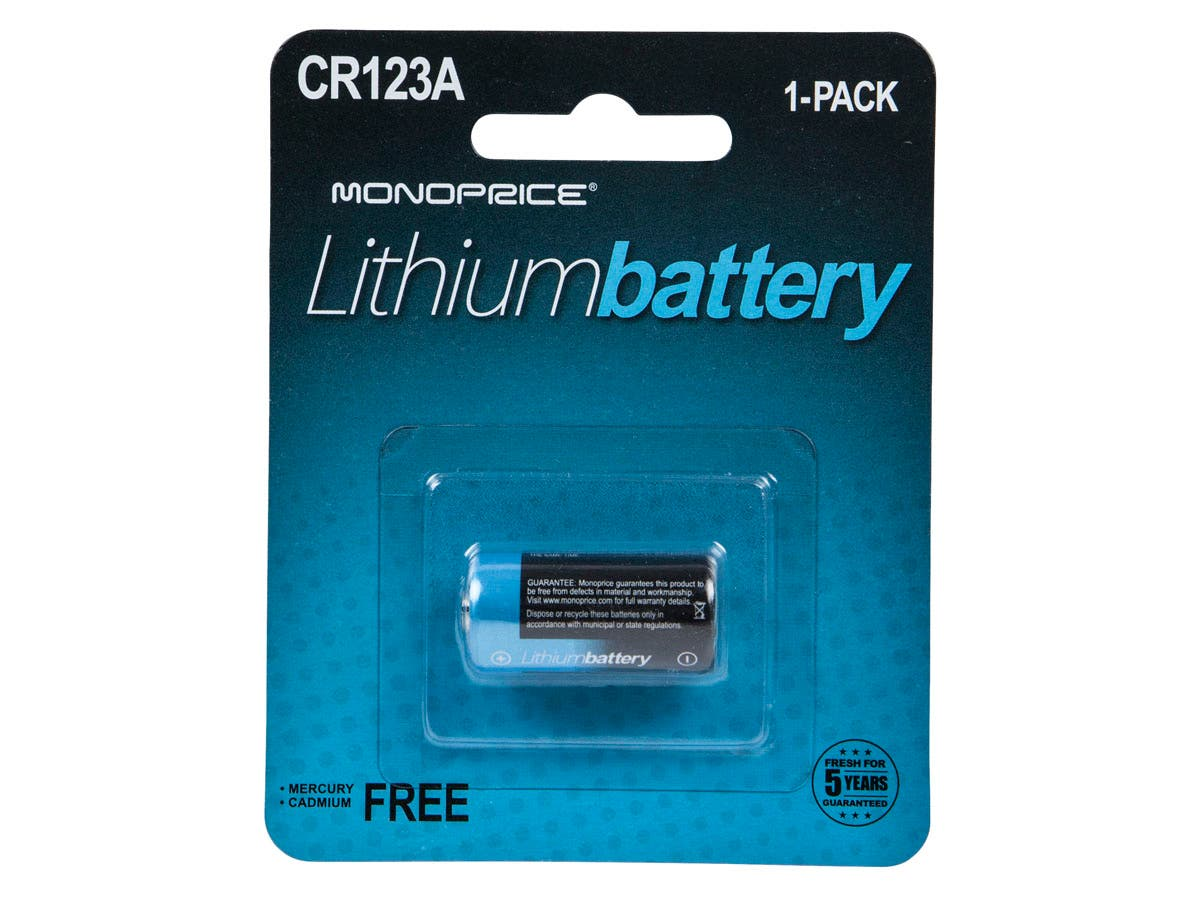 Monoprice Lithium 3V CR123A Battery - 1 Pack-Large-Image-1