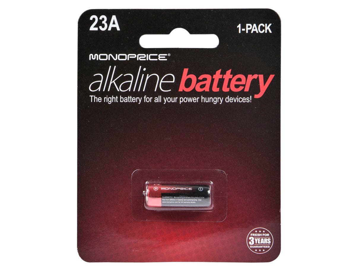 Monoprice Alkaline 12V A23A Battery - 1 Pack