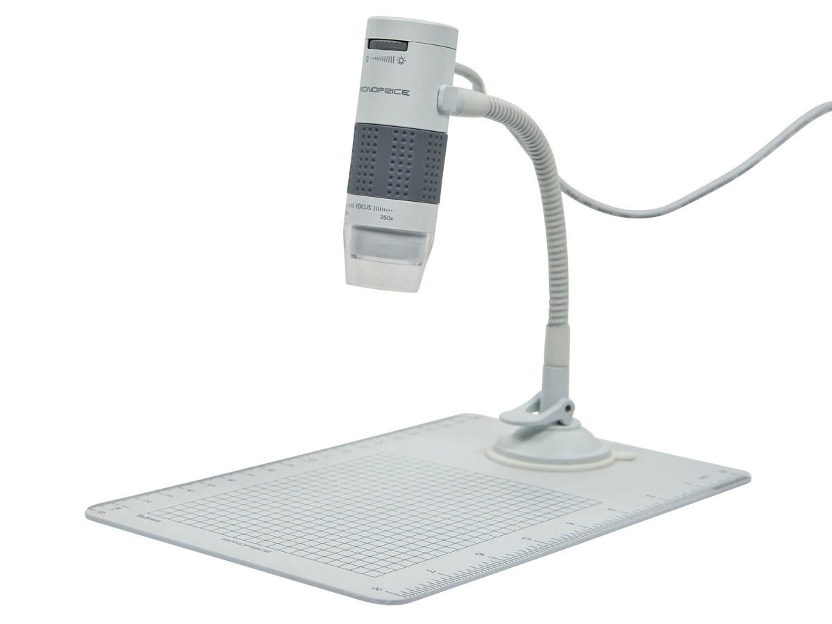 60x, 250x Digital Microscope with Suction Cup Stand and Observation Pad