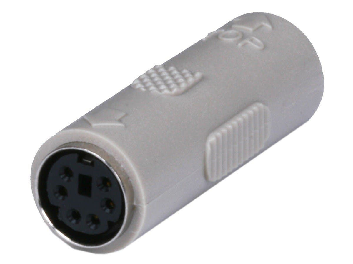 PS2 coupler - Mini DIN6 F/F, Molded Gender Changers