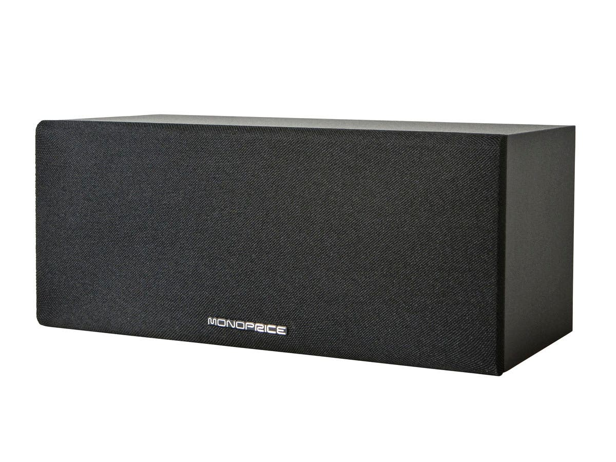 Premium Home Theater Center Channel Speaker, Black