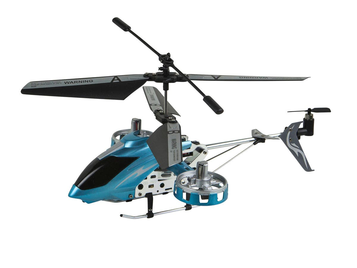 Sky Shark RC Helicopter with Gyro, 4.5 Channel - Blue-Large-Image-1