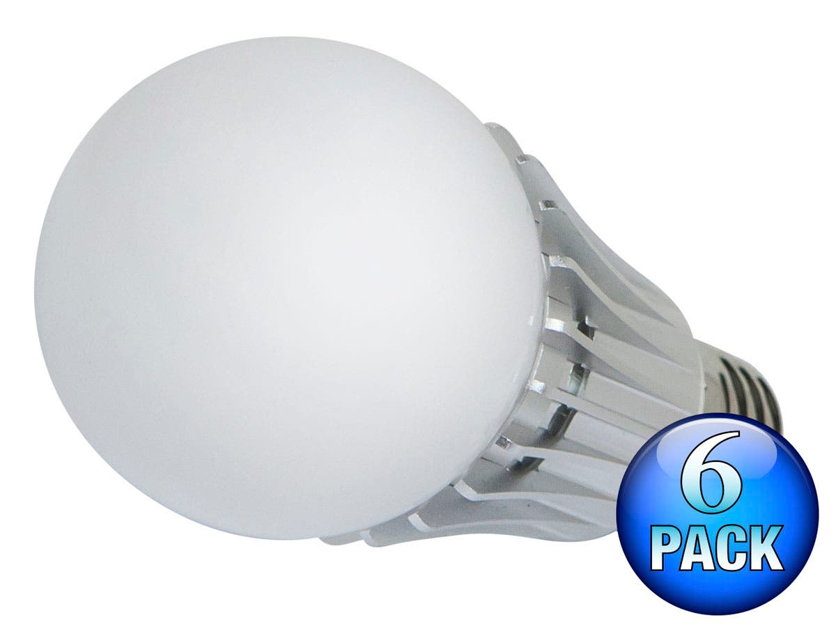 270° 8-Watt (40W Equivalent) A 19 LED Bulb, 630 Lumens, Neutral/ Bright (4000K) - Non-Dimmable (6-Pack)