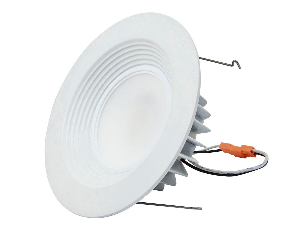 10-Watt (75W Equivalent) 6-inch Recessed LED Downlight Trim, 750 Lumens, Warm/ Soft (3000K) - Dimmable