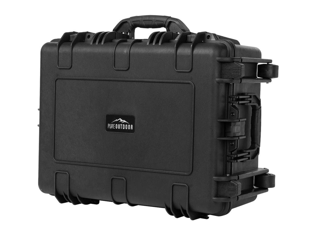Monoprice Weatherproof Wheeled Transport Hard Case with Pluck and Pull Foam, Fits Phantom 3/2 Drone + Accessories, 25 x 19 x 11 in-Large-Image-1