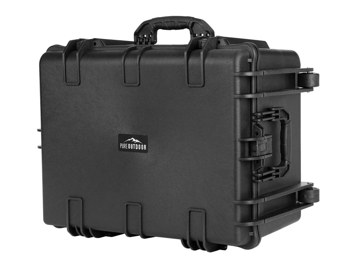 "Monoprice Weatherproof Hard Case with Wheels and Customizable Foam, 26"" x 20"" x 14""-Large-Image-1"