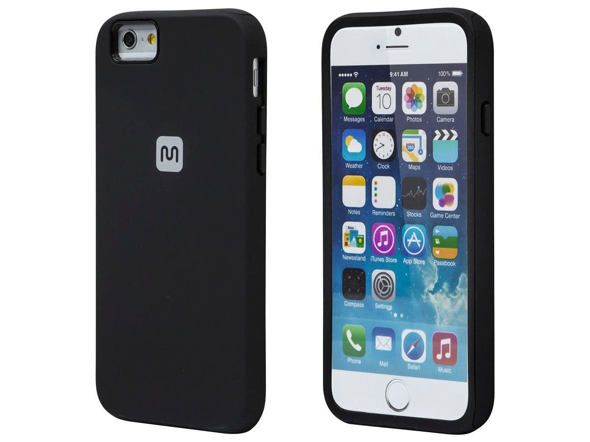 PC+TPU Protector Case for 4.7-inch iPhone 6 and 6s, Black