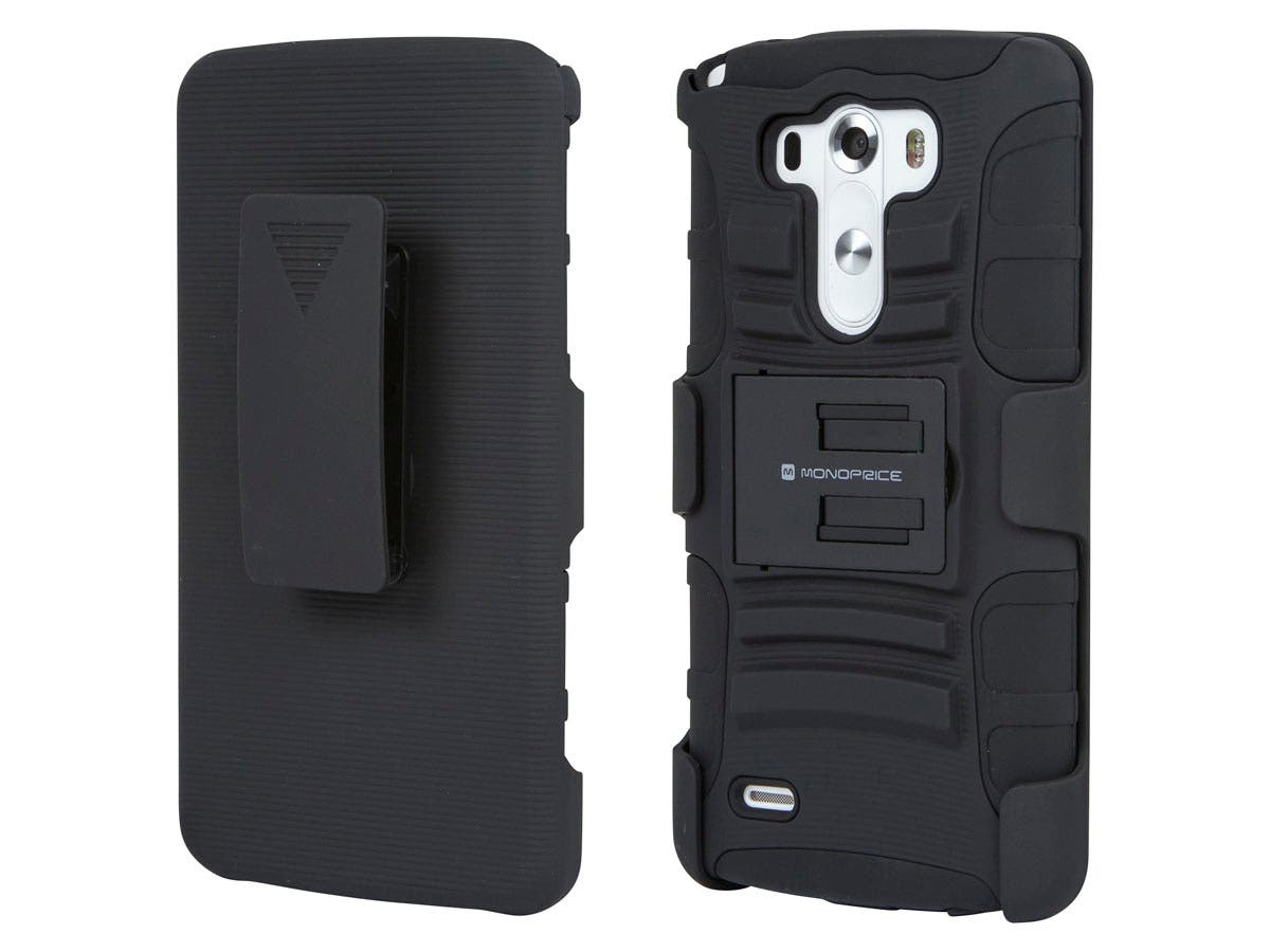 monoprice belt clip armor case with stand for lg g3, black LG GD880 Mini at Lg 3 Wire Harness Mini Sit